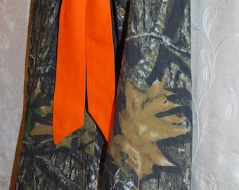 Handmade from Realtree Redneck Flower girl dress. Camo Baby. Mossy Oak. Toddler. Girl  Pillowcase dress Orange. Redneck Girl Birthday