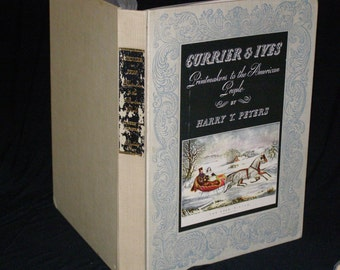 Currier & Ives: Printmakers to the American People ~(1942)  Peters, Harry T. , New York  Used Hardcover First Edition