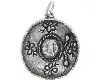 Sterling Silver Sombrero Hat Charm