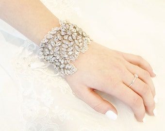 My Perfect Jenny bridal bracelet - Shimmering  cuff bracelet with crystals
