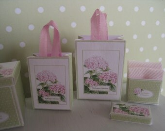 1:12 DOLLHOUSE HYDRANGEA BOXES & Bags
