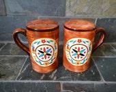 Pennsylvania Dutch Amish Salt & Pepper Ceramic Shakers Brinn's PA Made in Japan