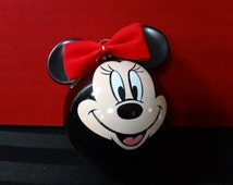 Disney Collectible Minnie Mouse head Glass Ornament ~ Christmas by Krebs