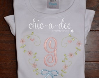 Personalized Floral Bouquet Embroidery Design