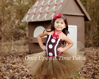 Gingerbread girl tutu dress girls size newborn 3 6 9 12 18 months 2t