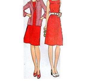 McCall's 4507 Sewing Pattern 70s Retro Boho Hippie Style Basic Dress Maxi Midi Length Sundress Shirt Jacket Uncut FF Bust 34