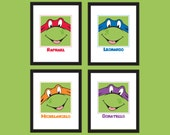 Teenage Mutant Ninja Turtles DIY printable art print set of 4