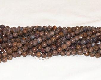 "Pietersite (Tempest Stone) 10mm Round Gemstone Beads A - 15.75"" Strand"
