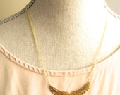 Crown of Leafs - gold plated necklace