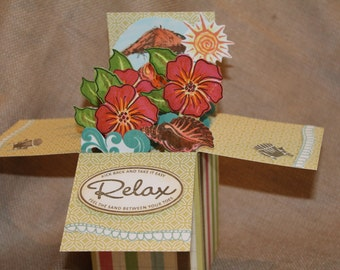 Hibiscus Relax Box Card