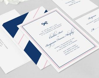 Wedding Invitation Modern - Caroline - Wedding Invitation, Modern Wedding Invitation - Deposit to Get Started