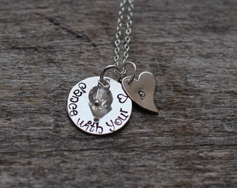 Hand Stamped Sterling Silver Dance Necklace