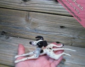 Miniature Needle Felted Italian Greyhound, Miniature Greyhound, Iggy, Iggies, IG, Italian Greyhound Gifts