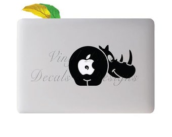 Rhino Zoo Safari Animal Rhinoceros Decal for Macbook