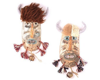 Ceramic Masks (set of 2)