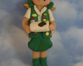 Girl Scout Cookies Christmas Ornament Sash Patches Handcrafted Polymer Clay Milestone Cake Topper Mint Junior Troop Leader Badges Birthday