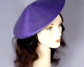 Vintage 1980s Asian Conical Paddy Sedge Purple Hat
