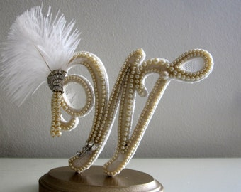 Art Deco Monogram Cake Topper : Popular items for art deco cake topper on Etsy