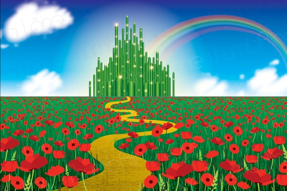 Printable Wizard of Oz Backdrop Instant Download 6ft x 4ft