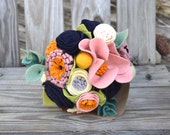 Felt Flower bouquet - bridesmaids, flower girl, table flowers, special occasion flowers