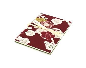 5x7 Photo Album, Scrapbook Album, Wedding Guestbook, Upcycled Kimono Book, Accordion Album. 5 x 7 inches