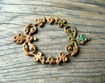 Vintage Copper Finding - Rhinestone Blank - Copper Findings