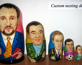 Custom nesting doll  Custom portrait   / by photo     6 pieces