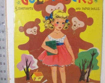 "Clearance - Vintage 1959 ""Goldilocks"" paper dolls by James & Jonathan"