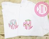 Lilly Pulitzer inspired monogram shirt