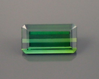 Tourmaline: 4.85ct Green Emerald Shape Gemstone, Natural Hand Made Faceted Gem, Loose Precious Mineral, Cut Crystal AAA Jewelry Supply 20196