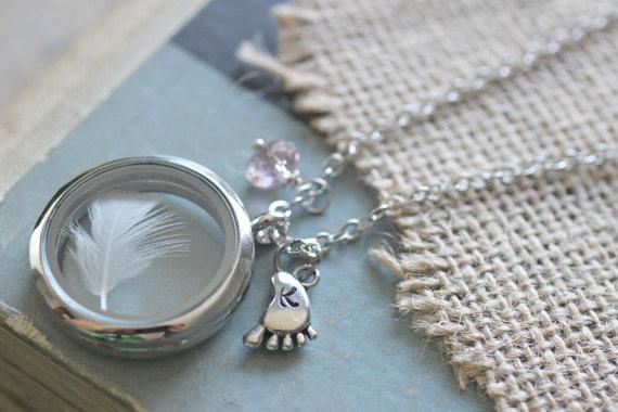 Baby Boy Gifts Jewelry : New mom jewelry necklace floating locket baby keepsake