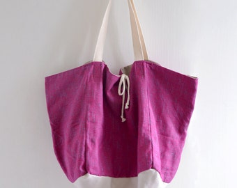 Candy Love / The Lake Tote Bag - reversible bag, double sided tote bag