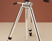 WHITEHALL TRAVELITE TRIPOD - Vintage Polished Aluminum - Compact with Geared Center Column