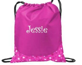Swim Bag, Wet Clothes Bag, Personalized Bags, Nylon Bag, Swimsuit bag, Drawstring Bag, Cinch Backpack, Drawstring Backpack, Swim Team Bag