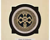 Personalized Celtic Wedding Knot  -Cast Paper - Celtic Blessing - wedding gift - Irish art - Celtic art - Scottish art