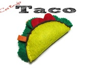 Cat Toy ,  Felt Catnip Taco , Catnip Toy - 1 Toy