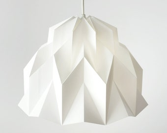 RUFFLE: Origami Polypropylene Lamp Shade - White / FiberStore by Fiber Lab
