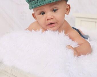Baby Boy Hat Irish Donegal Cap Newborn Baby Hat Donegal Hat Heather Green Newborn Photography Prop Newborn Photo Prop Baby Newsboy Cap