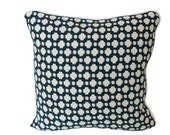 Celerie Kemble Betwixt Charcoal Grey Pillow Cover with Piping and Fabric on Both Sides