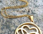 VALENTINES DAY SPECIAL Love is Infinite Gold Stainless Steel Infinity Heart Pendant