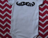 Custom Personalized Name Mustache Onesie - Baby - Black and White - Little Man - Boy Gift