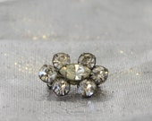 The Forget Me Not Pin - Vintage Clear Rhinestone