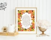 INSTANT DOWNLOAD, Psalm 100 Thanksgiving Scripture Printable, No. 204