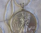 Silver Eagle Coin Pendant (One Ounce)
