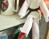 Karate Gi, Judo, and Taekwondo Uniform for Christmas Elf doll