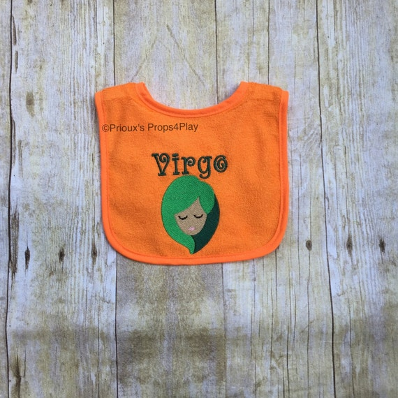 Virgo baby shower gift embroidered embroidery