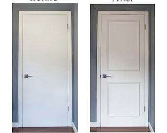 NEW DIY SERIES! Two Panel Applied Door Moulding Kit~ Get the custom, high-end look in your home with Luxe Architectural