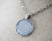 Jeremiah 29 11 Scripture Necklace - Glass Dome Pendant - Quote Necklace - Graduation Gift