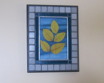 Autumn leaves:  Floating on the Breeze 4  - Wall Art - Art glass (MO010)