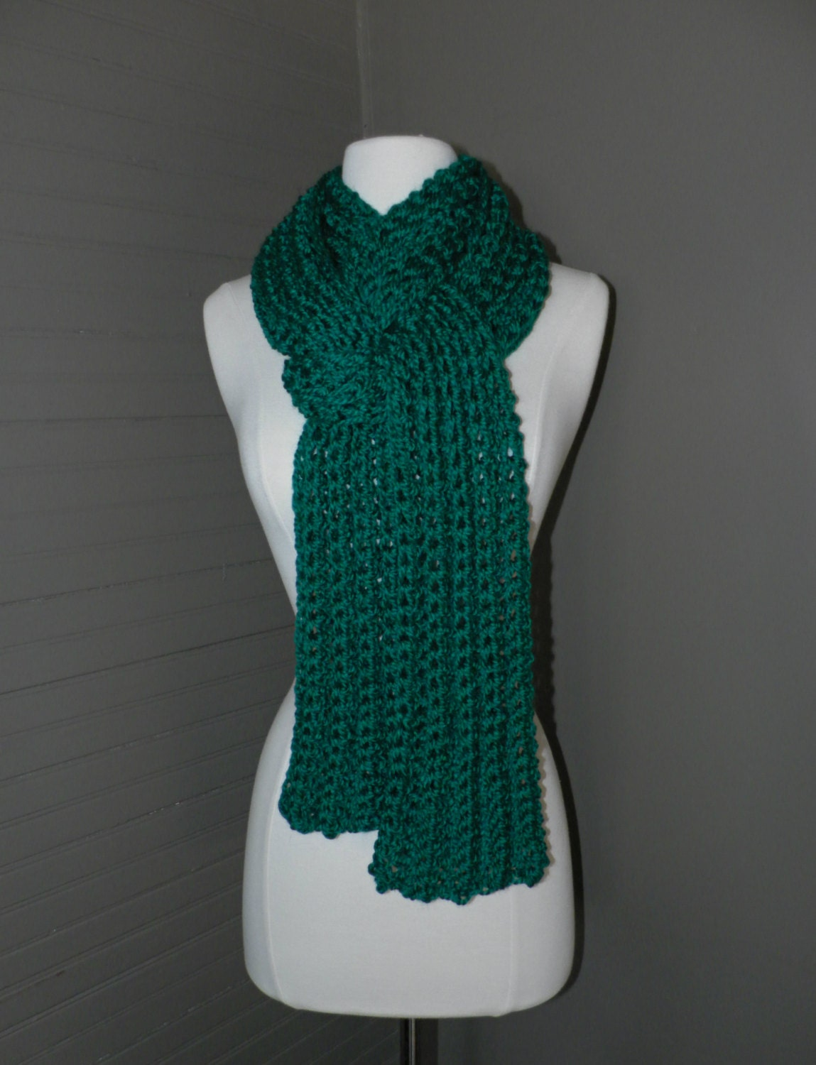 The Windsor Crochet Ribbed Scarf Knit winter scarf Crochet